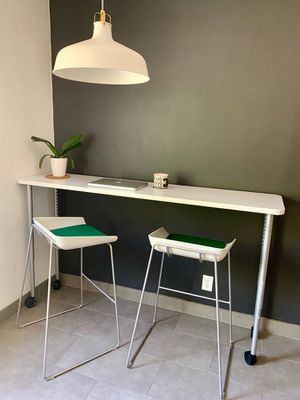 Steel case desk and two chairs. $525 obo for Sale in Los Angeles, CA
