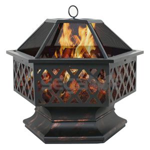Backyard Firepit Hex Shape Home Garden Backyard Fireplace for Sale in Los Angeles, DE