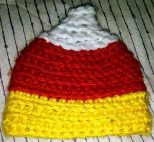 Baby's Candy Corn Knitted Hat for Sale in Bloomington, IL