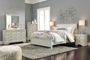 Ashley Jorstad Gray Sleigh Bedroom Set Queen and King Size Options for Sale in Houston, TX