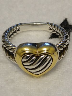 18k and Sterling Silver David Yurman ring for Sale in New York, NY