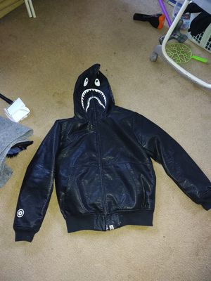 Bape leather zip up hoody for Sale in Lynnwood, WA