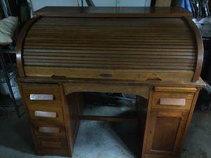 Antique Roll top desk. Top & drawers work! for Sale in Marietta, GA