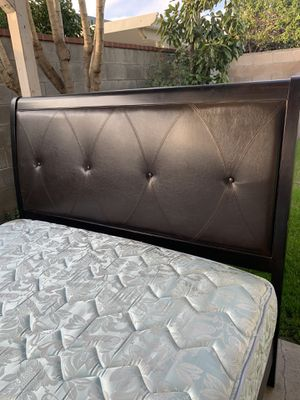 Queen size bed frame with mattress and box spring. for Sale in Fontana, CA