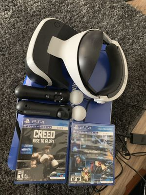 PlayStation-VR bundle 300 or best offer. NO LOW BALLING. IF YOU CANT AFFORD IT, MOVE ON for Sale in Colorado Springs, CO