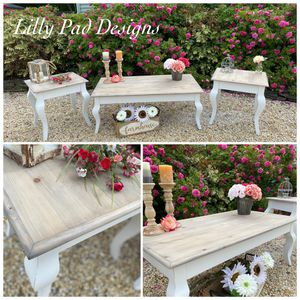 Farmhouse Costal Coffee Table and End Tables for Sale in Stafford Township, NJ