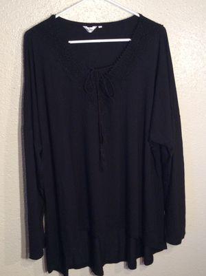 Like New Black Women's Mea Veor Long Sleeve Sweater Tunic Top in package - size 4XL for Sale in Austin, TX