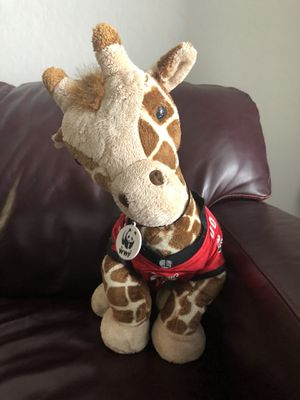 Build a bear giraffe in Bucs clothes stuffed animal for Sale in Clearwater, FL