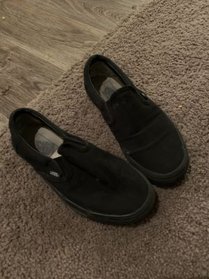 Black slip on vans for Sale in Eugene, OR