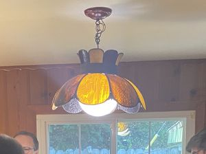 Victorian stained glass hanging pendant light. 1920's-1930's for Sale in Silverado, CA