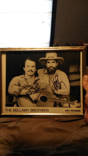 Autographed picture of the Bellamy brothers for Sale in Hilliard, OH