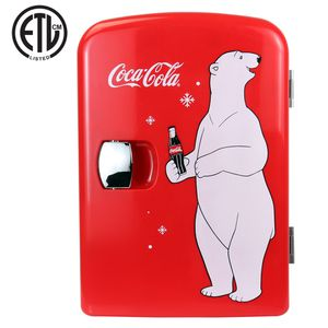 Coca-Cola 4 Liter/6 Can Portable Fridge/Mini Cooler for Food, Beverages, Skincare-Use at Home, Office, Dorm, Car, Boat- AC & DC Plugs Included for Sale in Anaheim, CA