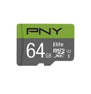Pny P SDU64U185EL GE 64GB Elite microSDXC Card CL 10 85MB/s with Adapter for Sale in San Antonio, TX