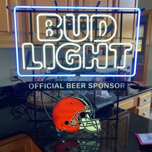 Cleveland Browns Budlight Neon Sign for Sale in Akron, OH