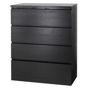 IKEA Malm 4-Drawer Dresser, Black/Brown for Sale in Seattle, WA