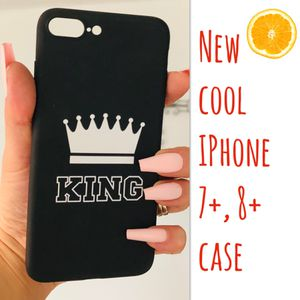 New cool iphone 7+ or iphone 8+ plus case rubber king crown hypebeast swag men's guys for Sale in San Bernardino, CA
