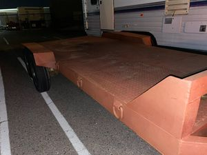 16x7 steel deck car hauler trailer for Sale in Gilbert, AZ