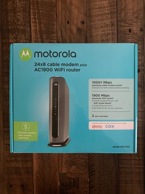 Motorola cable modem WiFi router for Sale in Houston, TX