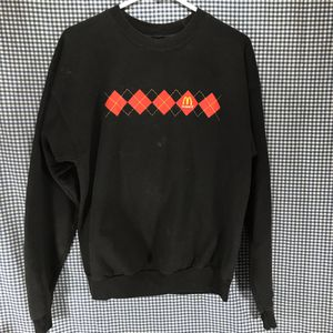 Hanes Black McDonald's Crew Member's Sweatshirt Men's Size Medium for Sale in Anchorage, AK