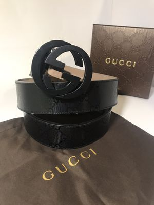 Gucci Black Shiny GG Impreme Belt **XMAS SALE!! for Sale in Queens, NY