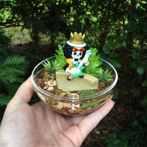 One piece anime terrarium orb fake plants brook for Sale in Wilton, CA