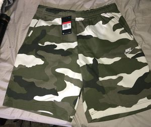 Nike Camo sweatpant shorts - Size L - New with tags for Sale in Modesto, CA