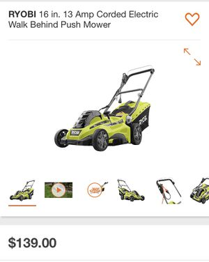 "Lawn mower electric corded 16"" Ryobi New in the box for Sale in San Diego, CA"