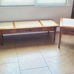 Mid Century Coffee Tables with tops marble for Sale in Lawrenceville, GA