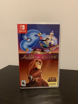 Nintendo switch Aladdin & Lion king for Sale in Lombard, IL