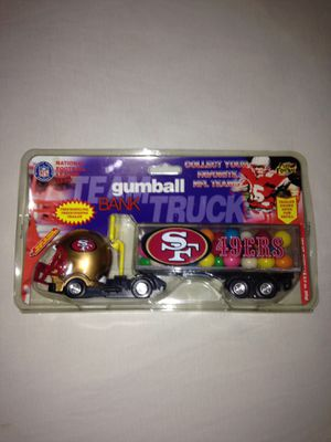 San Francisco 49ers Team Truck Gum Ball Made In Year 1999 New Truck Around 9 Inches Long for Sale in Reedley, CA