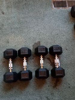 Set Of 25lbs Dumbbells for Sale in San Jose,  CA