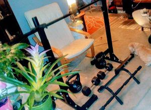 Work out bench, arm bar, multiple curl up weights etc for Sale in Owings Mills, MD
