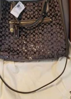 New Coach Shoulder bag Limited Edition Poppy Sequin Leather Purse for Sale in Riverview,  FL