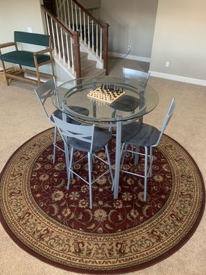 Glass High Top Table & Chair Set for Sale in Colorado Springs, CO