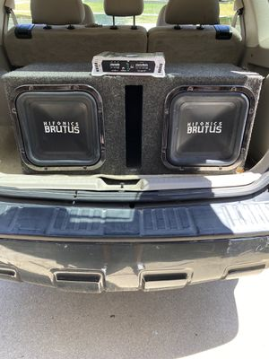 (2) Hifonic Brutus Subwoofers! Amp Included for Sale in Ypsilanti, MI
