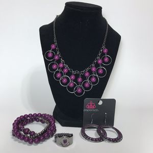 Jewelry- Paparazzi necklace earring bracelet ring set for Sale in Dublin, GA