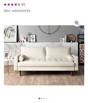 BRAND NEW White Laux Leather Sofa for Sale in Tempe, AZ
