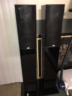 Miller & Kreisel, M&K LCR-750 Speakers In Excellent Condition Made in USA with original stands for Sale in Lynnwood, WA