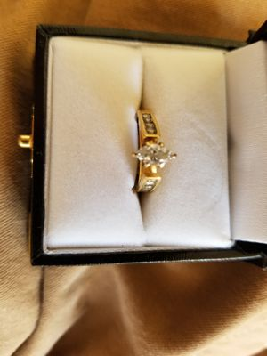 14kt gold and diamond wedding and engagement ring set for Sale in Hollister, CA