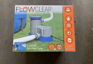 Bestway 58390E Flowclear 1500 GPH Filter Pump for Above Ground Swimming Pool for Sale in Los Angeles, CA