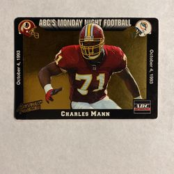 1993 Action Packed Monday Night Football Redskins Football Card #18 Charles Mann for Sale in Phelan,  CA