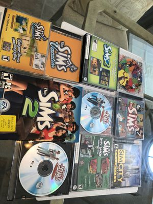 Over 200.00 worth of Sims computer games. Design your own home or city for the Sims for Sale in Herndon, VA