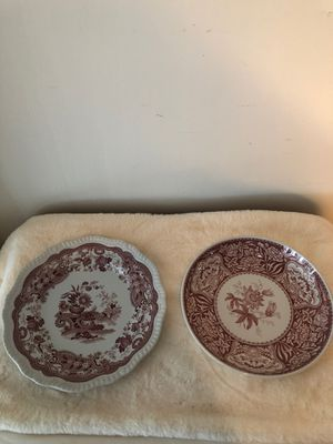 Spode archive collection cake plate 10 1/2 inches and bowl 10 inch for Sale in Fort Lauderdale, FL