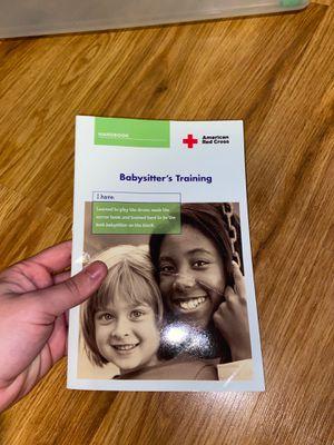 American Red Cross Babysitter's Training Booklet for Sale in Virginia Beach, VA