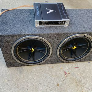$175 No Less Firm / Kicker Comp 12s / Crunch Ground Pounder Amp / Sub Box for Sale in Sanger, CA