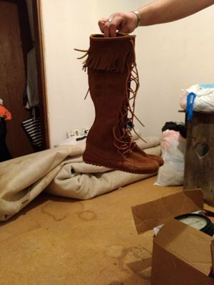 Real fringe boots for Sale in Des Moines, IA