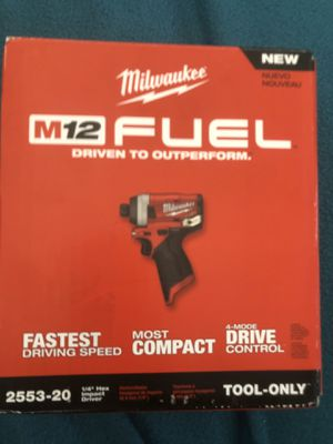 Milwaukee m12 impact driver $80 for Sale in Livermore, CA