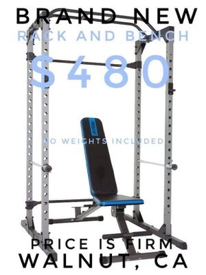 Progear 1600 Ultra Strength Max 800 lb Capacity Rack and 12-Position Weight Bench for Sale in Walnut, CA
