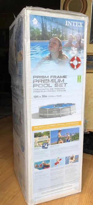 Intex pool 120 inch x 30 inch hard frame with filter for Sale in New Milford, NJ