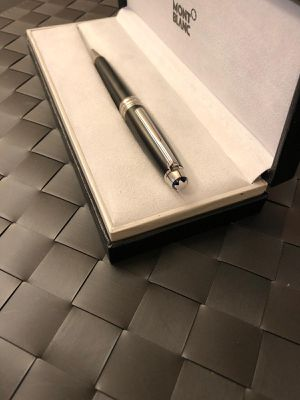 Used Montblanc Meisterstück Black Matt Silver -Coated Classique Ballpoint Pen for Sale in Los Angeles, CA